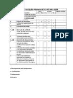 Lista de Chequeo Normas Ntic Iso 9001 .