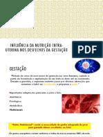 Aula 01- Influência Da Nutrição Intra-uterina Nos Desfechos Da Gestação