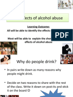 The Effects of Alcohol Abuse