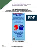 Teatro de La Sensacion Taller de Inteligencia Emocional-marzo-Abril 2019