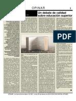 Art. Claudio Rama - Opinar - 483 - Un Debate de Calidad Sobre La Educación Superior - 2019