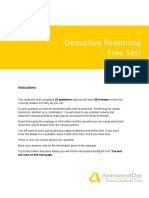 DeductiveFreeTest Solutions