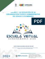 Unidad 1 División Político Administrativa  del Estado Colombiano