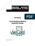 Vericard Software Manual 050905