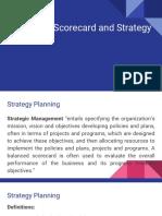 Balanced Scorecard and Strategy Maps