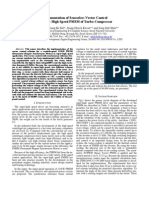 Implementation of Sensor Less Vector Control for Super-High Speed PMSM of Turbo-Compressor