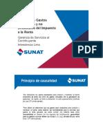 Principio de Causalidad - Sunat