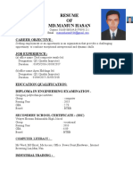 MAMUN Details CV With Picture