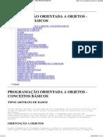 Programação Orientada a Objetos - Conceitos Básicos