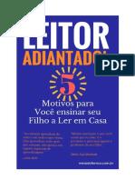 E-book Leitor Adiantado- 5 Motivos Para Você Ensinar Seu Filho a Ler Em Casa
