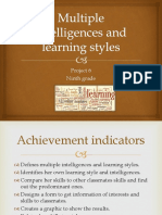 multiple intelligences and learning styles-project 6 9th grade  1