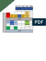 Horario segundo ciclo FIIS-UNI (Nueva malla 2018)