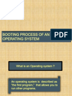Booting Process of an Operating System