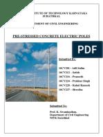 Pre-stressed Concrete Electric Poles