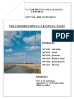Pre-stressed Concrete Electric Poles