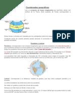 Coordenadas Geográficas Word