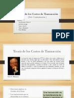 Teoría de Los Costos de Transacción (Sub