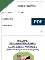 Obligacion Tributaria - Derecho Tributario I - Perú