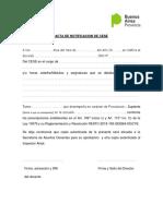 Notificación de Cese Docente Por Art 109-110