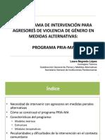 El Programa de Intervencion Tratamental Para Agresores de Violencia de Genero. El Programa Pria Ma. Por Dª Laura Negredo Lopez