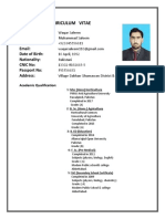 Waqar Saleem,s Cv