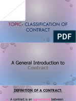 Classification of Contract