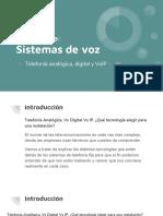 Sistemas de voz. Telefonía analógica, digital e IP.