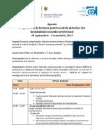 Planificarea afacerii Agenda