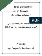 FACTORES  A  CONSIDERAR DURANTE EL CALCULO DEL CALIBRE MÍNIMO