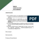 Roteiro Direitos Humano Carvalho Ramos 2019