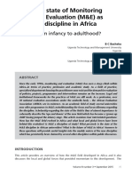 The state of Monitoring and Evaluation (M&E) as a discipline in Africa.pdf