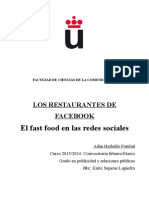 El Fast Food en Las Redes Sociales