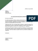 Modelo de Carta Del Estudiante Universitario