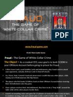 FraudTheGame Overview 2019