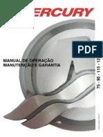 Manual de Proprietario Do Motor de Popa Mercury 75-90-115-125 HP (Carburado)
