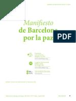 Manifiesto de Barcelona Por La Paz