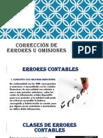 Corrección de Errores u Omisiones (1)