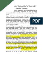 Castoriadis_Reflexiones Sobre Desarrollo y Racionalidad