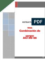 Combinaciones de Cargas segun ACI 318-08