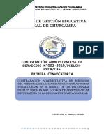 PRIMERA CONVOCATORIA CAS DE LOS PROGRAMAS PRESUPUESTALES 2019.pdf