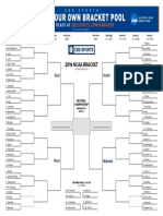 CBS Sports 2019 NCAA Men's Basketball Tournament Bracket