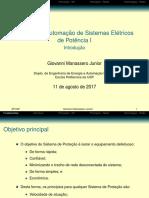 Proteção e Automação de Sistemas Elétricos de Potência I