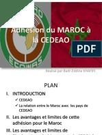 Adhésion Du Maroc à La Cedeao