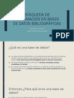 Búsqueda de Información en Bases de Datos Bibliográficas