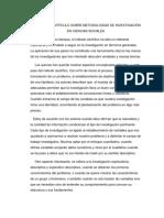 Análisis Del Artículo Sobre Metodologías de Investigación en Ciencias Sociales