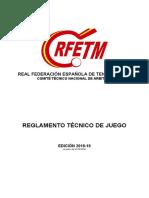 Reglamento Tecnico de Juego 2018-2019