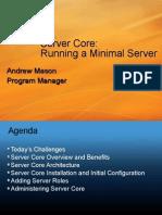 MS Mason Server Core
