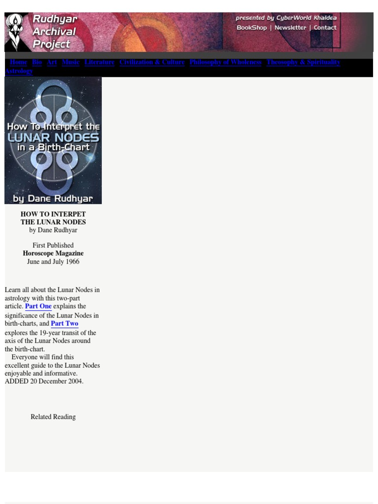 Dane rudhyar lunar nodes astrology horoscope nvjuhfo Images