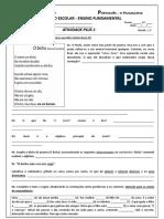 Colégio São Paulo. Ensino Fundamental II 7º Ano Data_ Exercícios (Folha 03)
