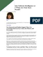 Eye Colour Psychology